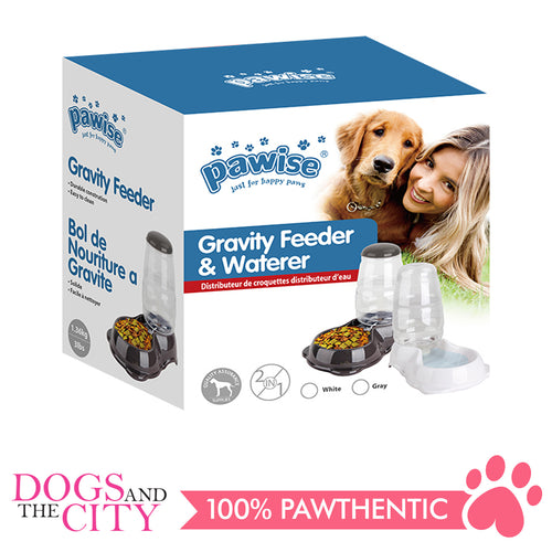 Pawise 11075 Pet Gravity Feeder & Waterer 30.5x23x32.5cm - All Goodies for Your Pet