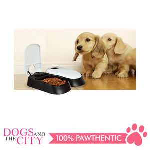 Pawise 11082 Pet Automatic Feeder Double 27x7x24cm - All Goodies for Your Pet