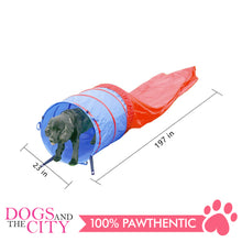 Load image into Gallery viewer, Pawise 11434 Dog Agility Tunnel 5M Red/Blue 57x57x2.5cm