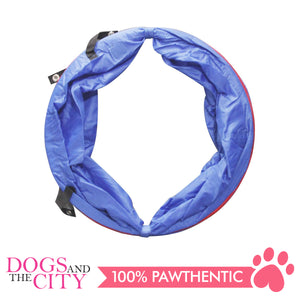 Pawise 11434 Dog Agility Tunnel 5M Red/Blue 57x57x2.5cm