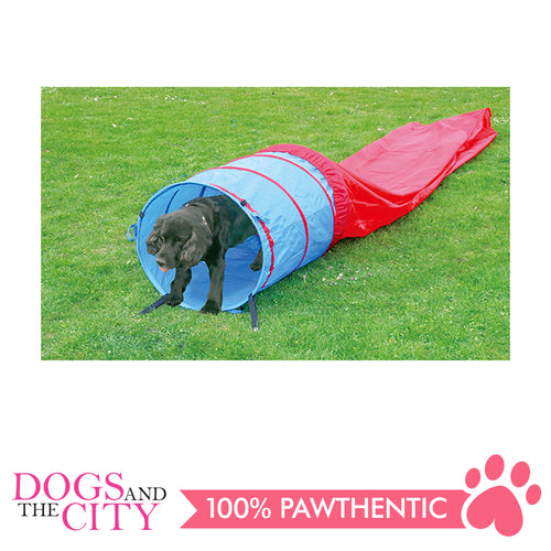 Pawise 11434 Dog Agility Tunnel 5M Red/Blue 57x57x2.5cm - All Goodies for Your Pet