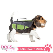 Load image into Gallery viewer, Pawise 12029 Dog Life Jacket Medium Green