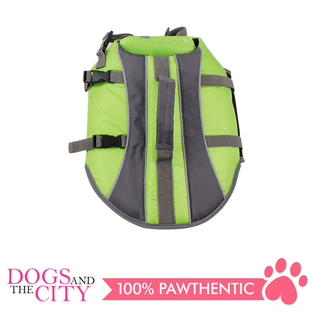 Pawise 12029 Dog Life Jacket Medium Green - All Goodies for Your Pet