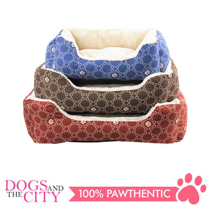 Pawise 12326 Square Dog Bed Blue 22 Inches/55.9x45.7x17.8cm - All Goodies for Your Pet