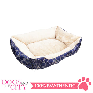 Pawise 12329 Square Dog Bed Blue 25 Inches/63.5x53.3x20.3cm - All Goodies for Your Pet