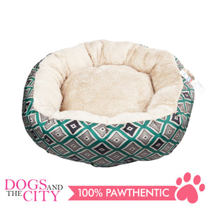 Pawise 12331 Round Dog Bed Green 19 Inches/40.6x40.6x16.5cm - All Goodies for Your Pet