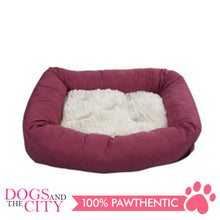 Load image into Gallery viewer, Pawise 12345 Dog Bed w/Remove Pillow Medium Red 68.6x40.6x10.2cm - All Goodies for Your Pet