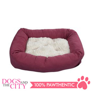 Pawise 12345 Dog Bed w/Remove Pillow Medium Red 68.6x40.6x10.2cm - All Goodies for Your Pet