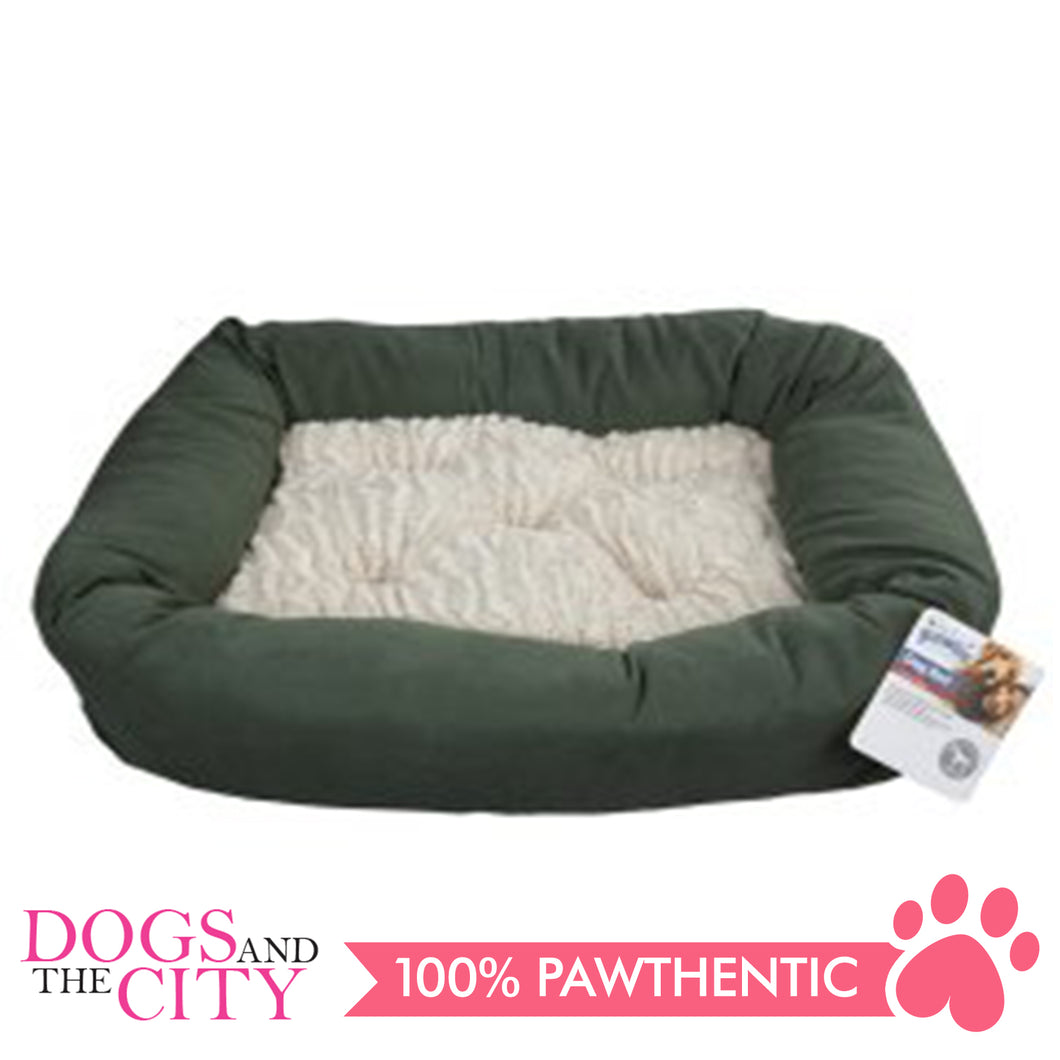 Pawise 12347 Dog Bed w/Remove Pillow Large Green 78.7x48.3x10.2cm - All Goodies for Your Pet