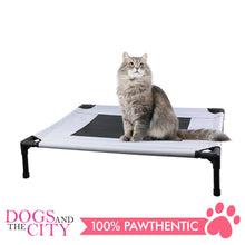 Load image into Gallery viewer, Pawise 12372 Pet Cot Raised Comfort Bed Grey for Dog and Cat 76x62x18cm