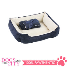 Load image into Gallery viewer, Pawise 12400 Pet Bed w/Blanket & Bone Red 44.5x41x17cm