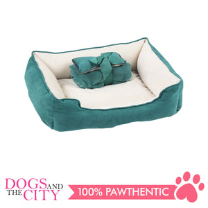 Pawise 12400 Pet Bed w/Blanket & Bone Red 44.5x41x17cm