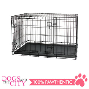Pawise 12532 Pet Classic Wire Crate Black Size 2 - All Goodies for Your Pet