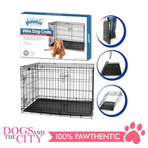 Pawise 12534 Pet Classic Wire Crate Black Size 4