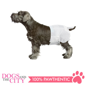 Pawise 12973 Dog Disposable Diapers 12pcs Large for 15-19 lbs - All Goodies for Your Pet