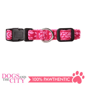 Pawise 13232 Dog Collar-Rose Small (22-35CM/15MM) - All Goodies for Your Pet