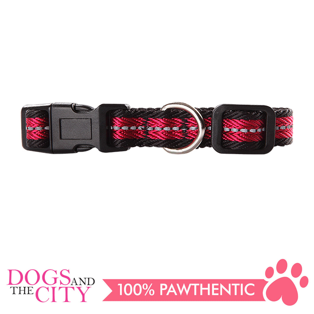 Pawise 13242 Dog Reflective Collar-Red Medium (35-50CM/20MM) - All Goodies for Your Pet