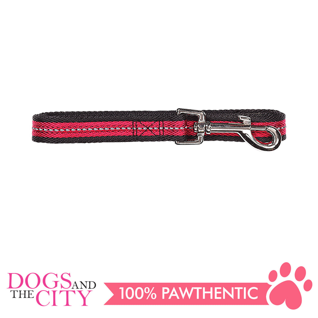 Pawise 13246 Dog Reflective Leash-Red Medium (1.2M/20MM) - All Goodies for Your Pet