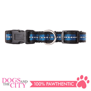 Pawise 13251 Dog Reflective Collar-Blue Small (22-35CM/15MM) - All Goodies for Your Pet