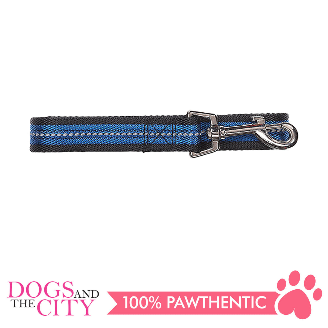 Pawise 13256 Dog Reflective Leash-Blue Medium (1.2M/20MM) - All Goodies for Your Pet