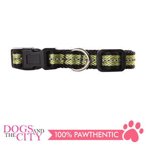 Pawise 13262 Dog Reflective Collar-Green Medium (35-50CM/20MM) - All Goodies for Your Pet