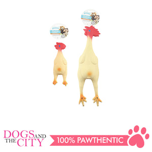 Pawise 14033 Dog Toy Latex Chicken Small 24cm - All Goodies for Your Pet