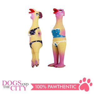 Pawise 14047 Dog Toy Latex Hen 24x5.5x4.5cm - All Goodies for Your Pet