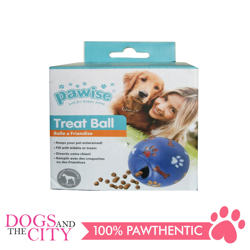 Pawise 14107 Vinyl Treat Interactive Ball Dog Toy 11cm - All Goodies for Your Pet
