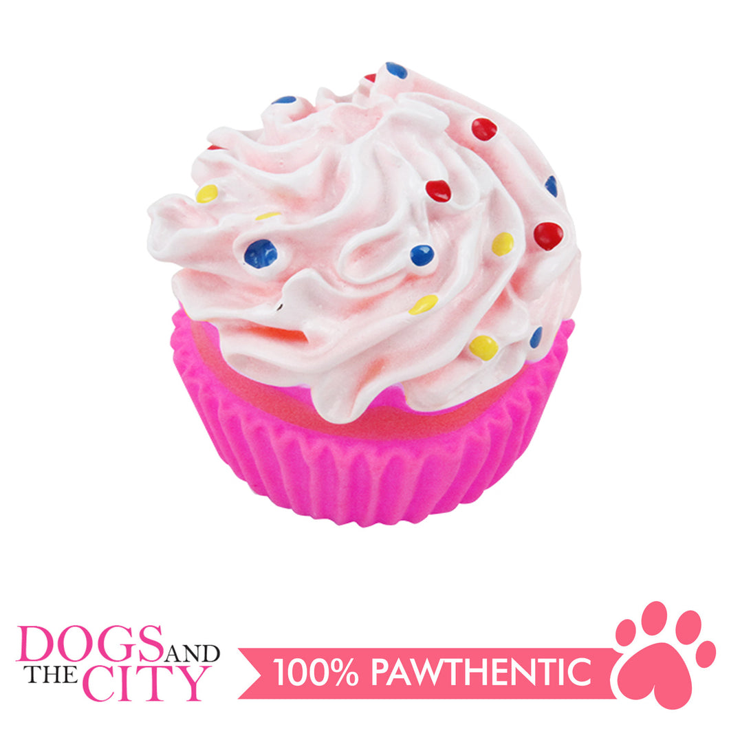 Pawise 14126 Dog Toy Vinyl Sprinkle Cupcake 7x7x8.5cm - All Goodies for Your Pet