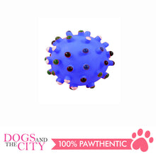 Load image into Gallery viewer, Pawise 14142 Vinyl Dog Toy Spiky Dot Ball Medium 8cm - All Goodies for Your Pet