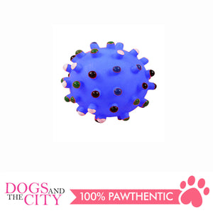 Pawise 14142 Vinyl Dog Toy Spiky Dot Ball Medium 8cm - All Goodies for Your Pet