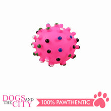 Load image into Gallery viewer, Pawise 14141 Vinyl Dog Toy spiky Dot Ball Small 6.5cm - All Goodies for Your Pet