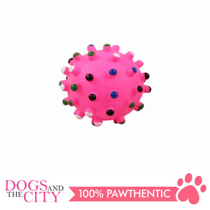 Pawise 14141 Vinyl Dog Toy spiky Dot Ball Small 6.5cm - All Goodies for Your Pet