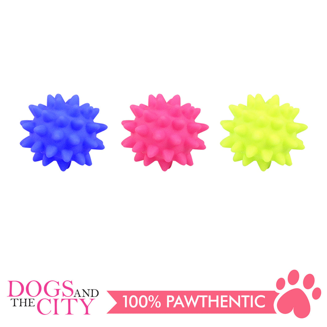 Pawise 14161 Dog Toy Vinyl spiny ball 6cm - All Goodies for Your Pet