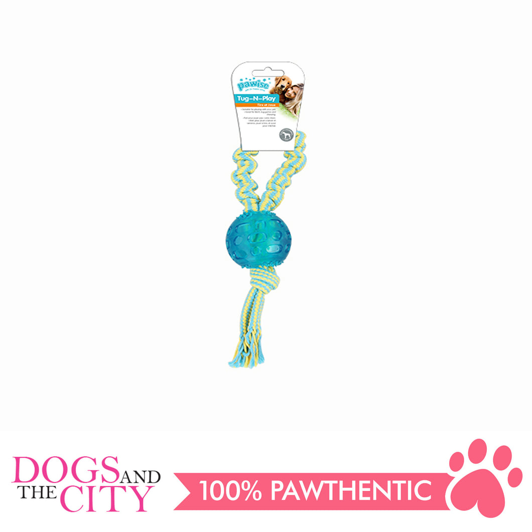 Pawise 14536 Dog Toy Tug-O-Play-Ball - All Goodies for Your Pet