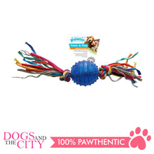 Load image into Gallery viewer, Pawise 14541 Dog Toy TPR Ball 6.3CM w/Rope - All Goodies for Your Pet