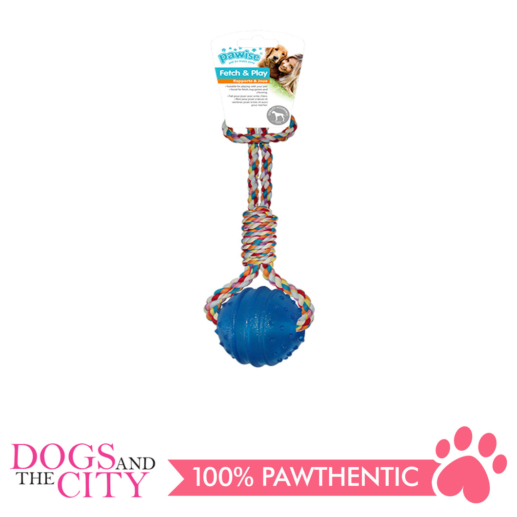 Pawise 14546 Dog Toy TPR Ball w/Rope Handle - All Goodies for Your Pet