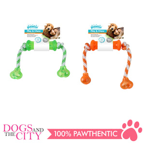 Pawise 14559 Dog Toy Play n Chew Dumbbell - All Goodies for Your Pet