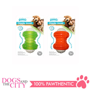Pawise 14574 Dog Toy Giggle Jouet Bone 12cm - All Goodies for Your Pet