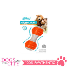 Load image into Gallery viewer, Pawise 14575 Dog Toy Giggle Jouet Dumbell - All Goodies for Your Pet