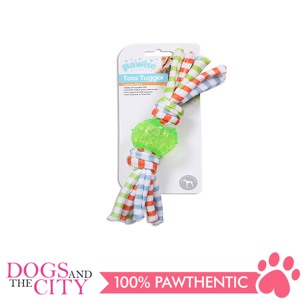 Pawise 14621 Dog Toy Toss Tugger Ball Small 24cm - All Goodies for Your Pet