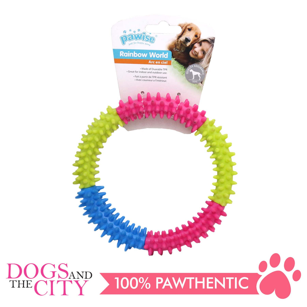 Pawise 14662 Dog Toy Rainbow World Coronule Medium 12cm - All Goodies for Your Pet