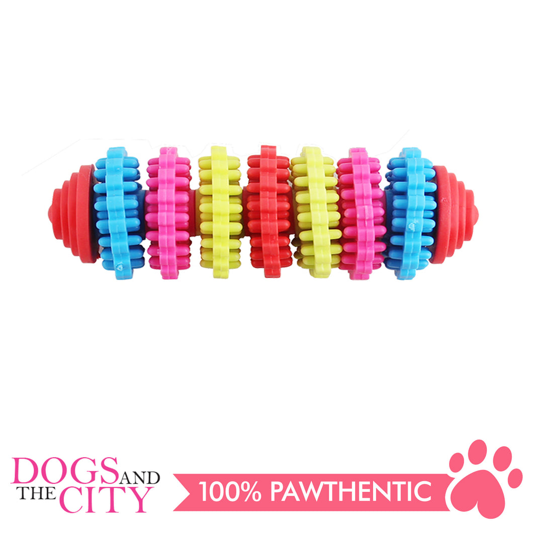 Pawise 14665 Rainbow World Gear Dog Toy Medium - All Goodies for Your Pet