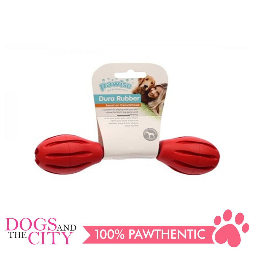 Pawise 14701 Dog Toy Rubber Dumbbell Small 18cm - All Goodies for Your Pet