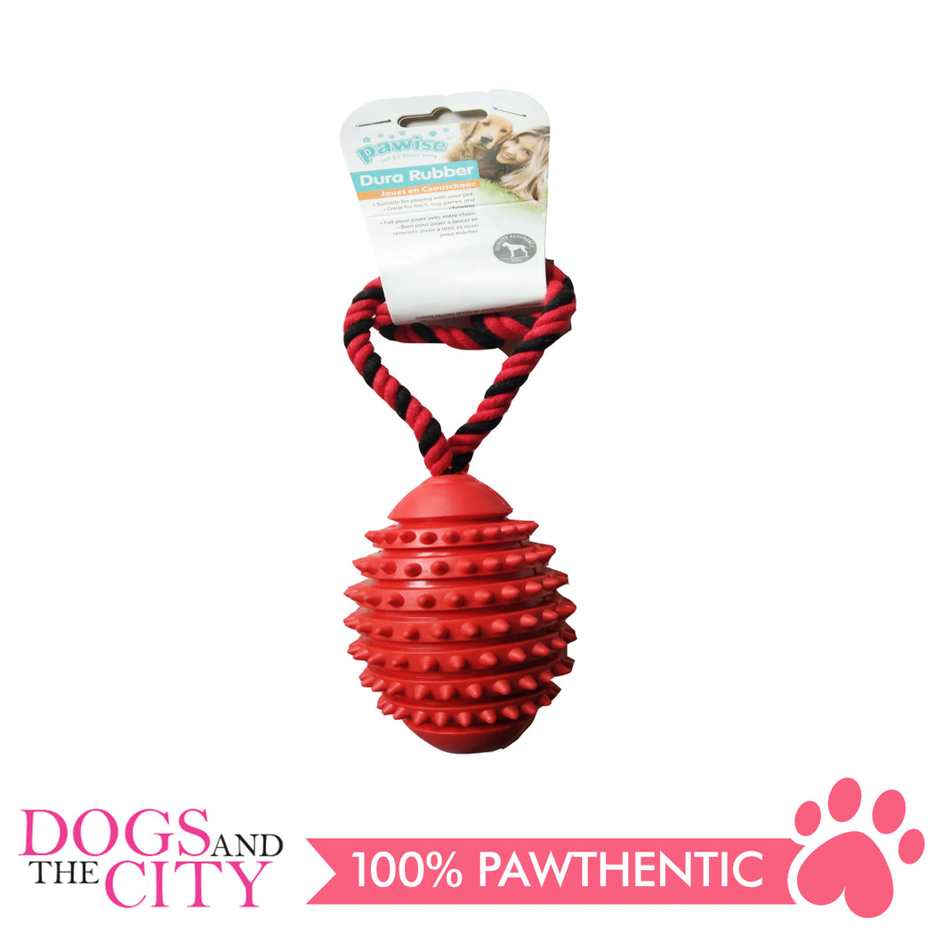 Pawise 14711 Rubber Toy With Rope Dog Toy - All Goodies for Your Pet