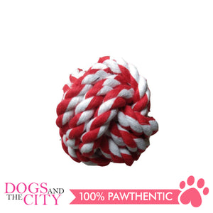 Pawise 14745 Rope Knot Ball 6cm Dog Toy - All Goodies for Your Pet