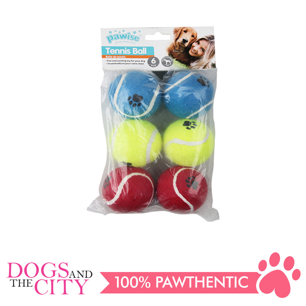 Pawise 14753 Pawise Tennis Ball Dog Toy 6/pack - All Goodies for Your Pet