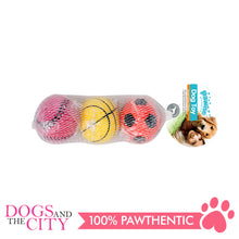 Load image into Gallery viewer, Pawise 14764 Dog Toy Sponge Ball 3/pack