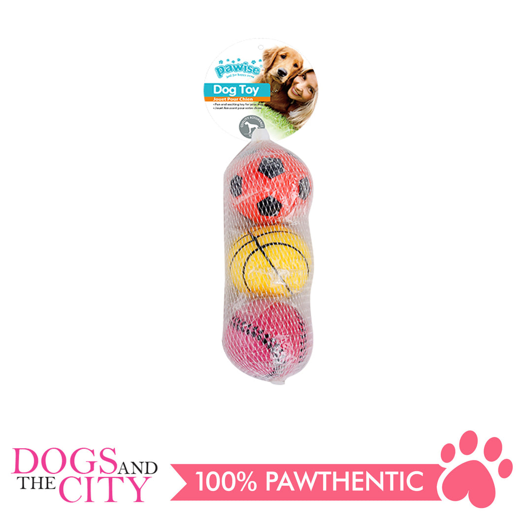 Pawise 14764 Dog Toy Sponge Ball 3/pack - All Goodies for Your Pet