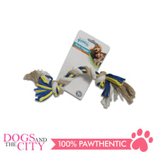 Load image into Gallery viewer, Pawise 14851 Dog Toy Floss Tugger  2 knots Bone 30cm